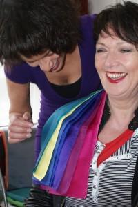 About Image Amstelveen en Shirley Tdlohreg aan het werk tijdens true colour kleuradvies